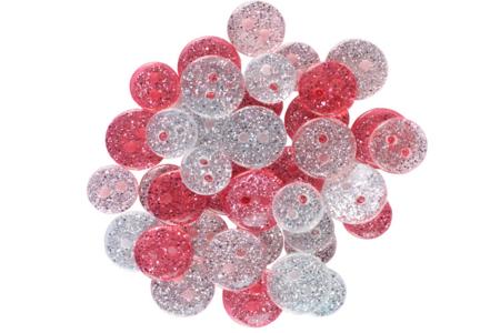 Boutons pailletés, camaïeu rose - Set de 36 - Boutons – 10doigts.fr