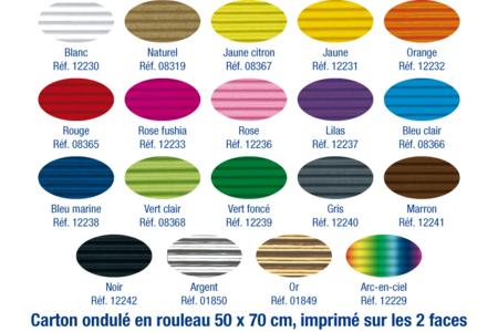 Carton ondulé 50 x 70 cm - couleurs au choix - Carton ondulé – 10doigts.fr