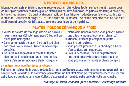 Moule 3 bougeoirs - Moules – 10doigts.fr