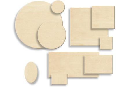 Supports plats en bois naturel contreplaqué - Supports plats – 10doigts.fr