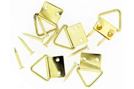 Attache-cadres en laiton - Set de 12 - Chevalets et accessoires – 10doigts.fr