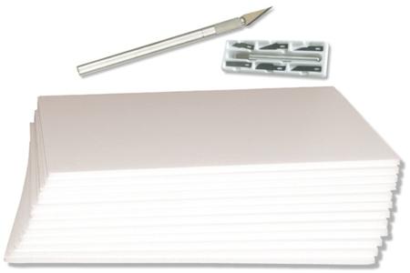 Carton plume blanc - Épaisseur 5 mm - Carton Plume et Polystyrène – 10doigts.fr