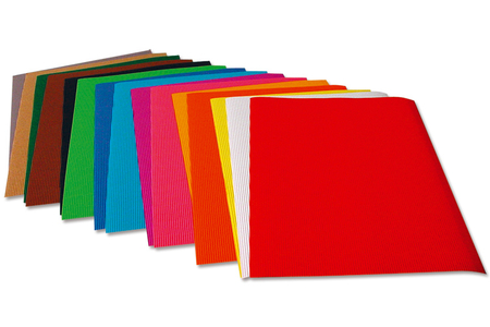Carton ondulé - 10 feuilles assorties - Carton ondulé – 10doigts.fr