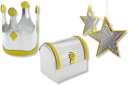 Carton ondulé métallisé argent - Carton ondulé – 10doigts.fr