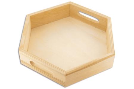 Mini-plateau hexagonal en bois - Plateaux en bois – 10doigts.fr