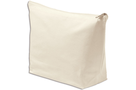 Pochette à bijoux en coton naturel avec fermeture zippée - Support textile à customiser – 10doigts.fr