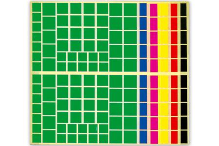 Gommettes carrées - Set de 1692 - Gommettes géométriques – 10doigts.fr
