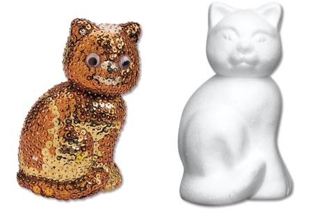 Chat en polystyrène 14 cm - Animaux – 10doigts.fr