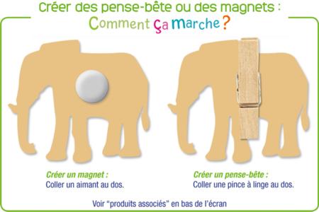 """Motifs """"La mer 1"""" en bois décoré - Set de 8 - Motifs peints – 10doigts.fr"""