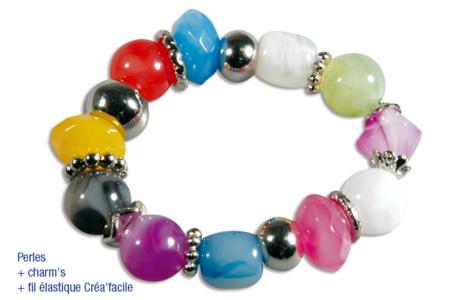 Perles en acrylique aspect marbré - Set de 50 - Perles acrylique – 10doigts.fr