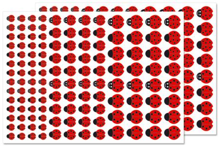 Gommettes coccinelles - 2 planches - Gommettes Animaux – 10doigts.fr