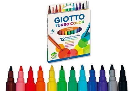 Feutres Giotto Turbo Color - Pointe fine - Feutres pointes moyennes – 10doigts.fr