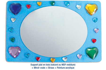 Supports plats en bois médium (MDF) - Supports pour mosaïques – 10doigts.fr
