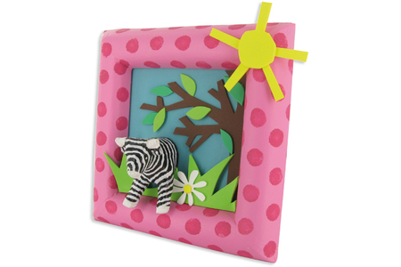 Cadre carré en carton papier mâché, avec bords arrondis - Cadres – 10doigts.fr