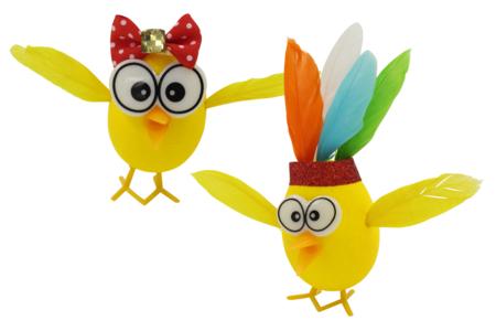 Becs et pattes de poussin à planter - Set de 8 - Décorations et accessoires de Pâques – 10doigts.fr