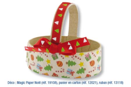 Panier en papier mâché - Supports de fêtes en carton – 10doigts.fr