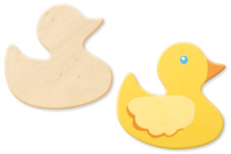 Canard en bois naturel - Motifs bruts – 10doigts.fr