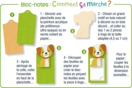 Chien en bois naturel - Motifs bruts – 10doigts.fr