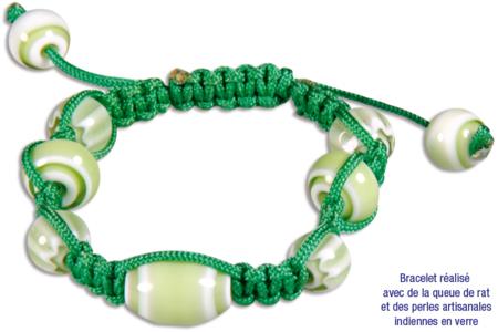 Perles indiennes chevrons en verre - 40 perles - Perles en verre – 10doigts.fr