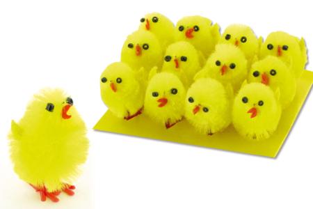 Poussins en chenille de soie - Lot de 12 - Couronnes de Pâques – 10doigts.fr