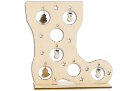 Botte en bois et miniatures en suspension - Centre de table – 10doigts.fr