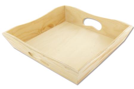 Mini-plateau carré en bois - Plateaux en bois – 10doigts.fr