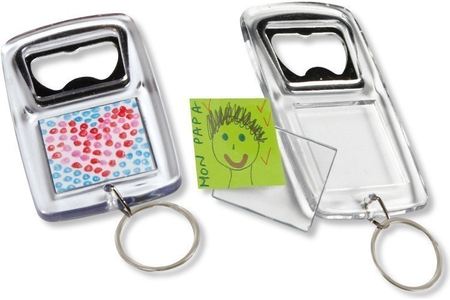 Porte-clés décapsuleur - Lot de 5 - Plastique Transparent – 10doigts.fr