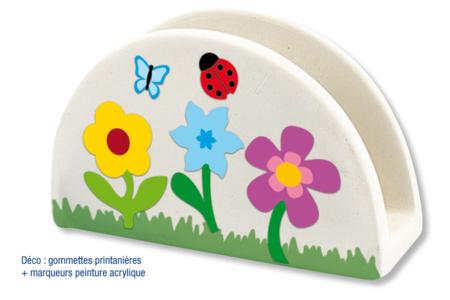 Range-courrier en terre cuite blanche - 4 pièces - Supports en Céramique et Terre Cuite – 10doigts.fr