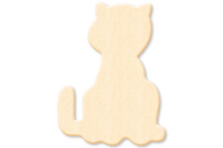Chat en bois naturel - Motifs brut – 10doigts.fr