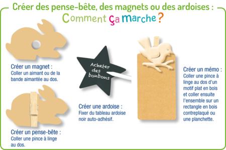 Main en bois naturel - Motifs bruts – 10doigts.fr