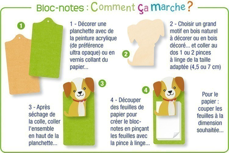Chien en bois naturel - Motifs brut – 10doigts.fr