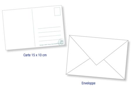 """Carte postale gommette """"Enfant cœur"""" - Gommettes Histoires et décors – 10doigts.fr"""