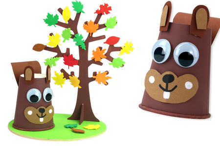 Écureuil et son arbre d'automne - Activités enfantines – 10doigts.fr