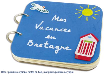 """Album photos en bois """"Mes vacances en Bretagne"""" - Décoration d'objets – 10doigts.fr"""