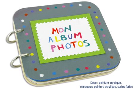 "Album photos en bois ""Mon album photos"" - Albums, carnets – 10doigts.fr"