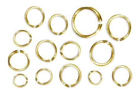 Anneaux ronds brisés dorés - Ø 5 mm - Anneaux simples ou doubles, ronds ou ovales – 10doigts.fr