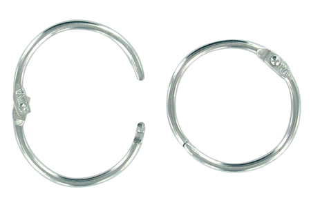 Anneaux métalliques argentés à clip - Lot de 10 - Porte-clés pour bijoux – 10doigts.fr