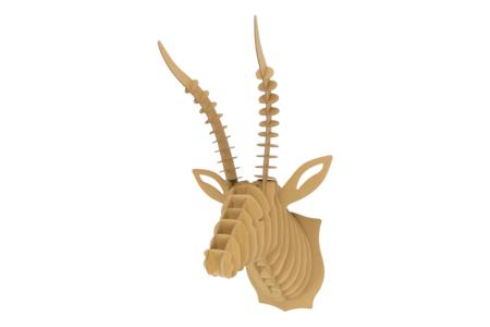 Trophée tête d'antilope en carton à assembler - Déco murale Trophée – 10doigts.fr