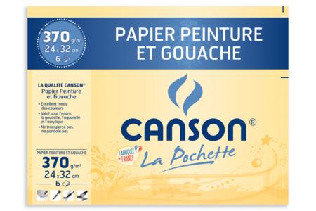 Papier Canson pour peinture - 6 feuilles - Papiers pour peinture – 10doigts.fr