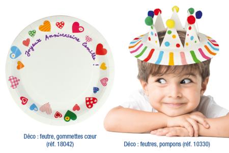 Assiettes en carton blanc - Anniversaires – 10doigts.fr