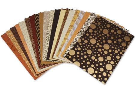 Papiers Indiens,Collection Rajastha, - 20 feuilles artisanales - Papier artisanal naturel – 10doigts.fr