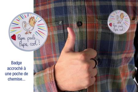 Badges ronds à personnaliser - Lot de 6 - Objets pratiques du quotidien – 10doigts.fr