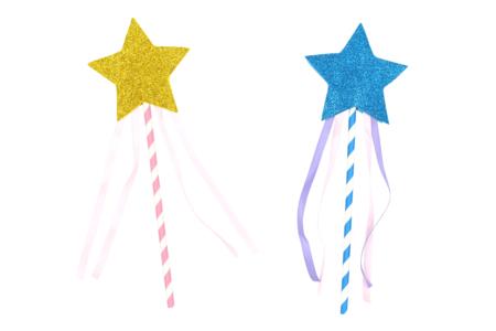 Kit création de baguettes magiques - Set de 4 - Mardi gras, carnaval – 10doigts.fr
