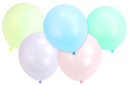 Ballons ronds, couleurs pastels - 100 ballons - Ballons, guirlandes, serpentins – 10doigts.fr