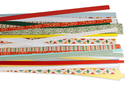 Bandes de papier Quilling Noël - 168 bandes - Quilling, paperolles – 10doigts.fr