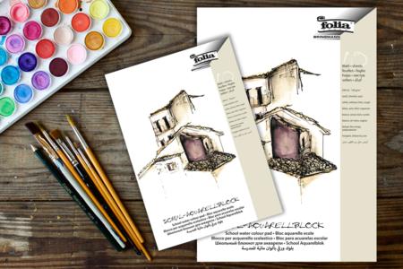 Papier blanc pour aquarelle - Bloc de 10 feuilles - Papiers Peintures – 10doigts.fr