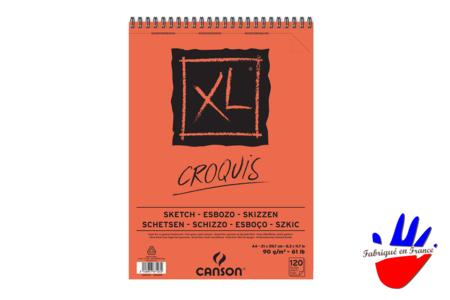 Bloc Papier Croquis et esquisse Canson XL - Papiers et Carnets – 10doigts.fr