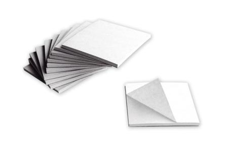 Blocs notes rond ou carré - Lot de 6 - Supports blancs – 10doigts.fr