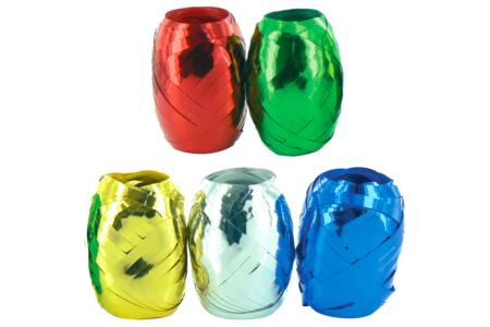 Bobines de bolduc brillant métallisé - Set de 5 - Rubans et adhésifs – 10doigts.fr