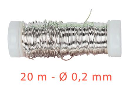 Fil métal fin argent - 20 mètres - Fils aluminium à modeler – 10doigts.fr